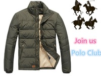 POLO Aautumn winter Men small embroidery horse Logo Polo down jacket/military Winter jacket/down-jacket Coat parka MEN