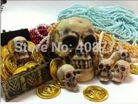 2014 Halloween horror skull decoration human simulation skull model medical,free shipping