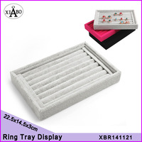 wholesale 6PC lot ring tray display jewelry organizer