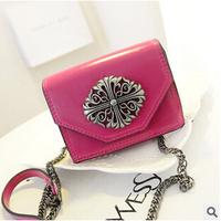 mini jelly bag  women vintage leather handbags ladies party purse clutches cosmetic makeup shoulder bags BG0035