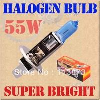 DHL/EMS free shipping 100pcs H1 Super Bright White Fog Halogen Bulb 55W Car Head Light Lamp with Retail Box parking