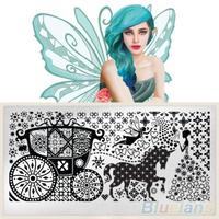 1 Sheet Nail Art Image Stamp Stamping Plates Manicure Template nail sticker