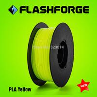 Flashforge 3D printer PLA Yellow colour  filaments,diameter 1.75mm,for Creator series.