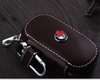 Best key case! Special car key cover for 2014-2010 BMW 320i durable genuine leather key wallet for 2013 BMW 320i,Free shipping