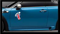 2015 Hot Sale Real The Whole Body Cartoon Glue Sticker High Waterproof Car Sticker Mini with Quality Logo