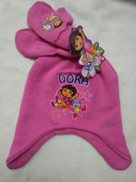 (10 Sets/Lot) Cute And Fashion Cartoon Dora 2~6 Years Children Gril Hat Glove Set All For Children Clothing And Accessories