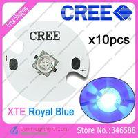 10pcs/lot! Cree XLamp XT-E XTE 1W-5W Royal Blue 450NM-452NM High Power LED Emitter Bulb Lamp on 16mm UFO Platine Heatsink