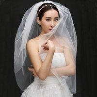 The bride wedding dress formal dress hair accessory short veil brief style yarn veil
