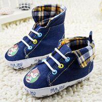 Baby boy's & girl's first walker canvas jean navy in fashion sneaker shoes