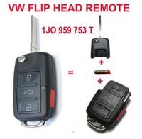 1J0 959 753 T 1J0959753T Folding Key Keyless Entry Remote Transmitter Starter Alarm For VOLKSWAGEN 3+1B 315MHZ ID48 Chip
