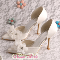 14 Colors Magic Custom Handmade Pointed Toe Shoes Womens for Wedding Party Flower Free Shipping