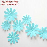 New Decorative Combination DIY Flower 3D Wall Stickers Chrysanthemum Blue Daisy Art Decor Home Bedroom Stickers 3d wall decals