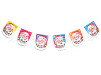 5 root Christmas Bunting lined Decoration/Garland The room is decorated 1.7m new
