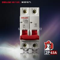 Miniature Circuit Breaker 2P home breaker CDB6S 2P63A air switch