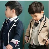6pcs/lot British style  boy gentleman coat black khaki