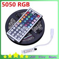 5050 RGB LED Flexible Strip 300LEDs 5050 SMD + 44Key Remote Controller RGB Led Strip Light Free Shipping