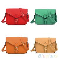 Women's Vintage Faux Leather Satchel Shoulder Messenger Cross Body Flap Bag Wallet Handbag