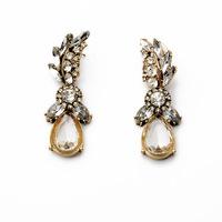2014 Fashion Big Crystal Earrings Luxury Gift Big Long Earrings For Women Brincos bijoux women JLE051