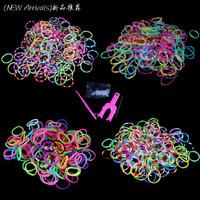 Hot Sale Wholesale 1000pcs(5 Bags) Loom Bands Colorful Rubber Band Loom Bands Kit Set for DIY Bracelet Kids Children Toys Gift
