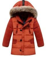 2014 new children winter coat kids boys duck down jacket fashion baby warm thicken outerwear t163