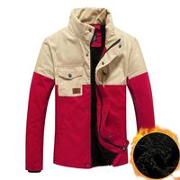 M~3XL,2014 Winter Jacket Men 100% Cotton Mens Casual Down Jackets Plus Velvet Warm Outdoors Thick Outwear Coats Jackets For Men