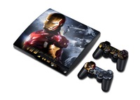High Quality ps2 skin sticker For PlayStation 3 Slim PS3 Slim Console + 2Pcs Free Controller Cover Decals
