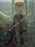 High Quality Fashion 100% Nature Silk Printed Chiffon Fabric By Meter C0851