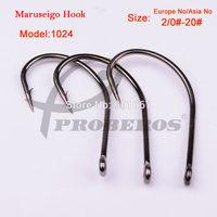 100pcs/lot Fishing Hook 1024-2/0#-Asia no-20# Maruseigo Hook Jig Big Hook 0.51g/pc Treble Hooks Free Shipping