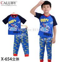 New baby boys short sleeve cartoon OGGY clothes set / high quality children pajamas / kids sleepwear