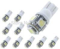 10x T10 5050 5SMD LED Car Light Wedge Lamp Bulbs DC 12V 2825 Running Light Tail Turn Signal Corner Light Stop Light