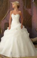 Strapless Organza Pick-ups Satin Wedding Dresses Bridal Gowns Vestido de Noiva  XS S M L XL 2XL 3XL 4XL 5XL All Sizes