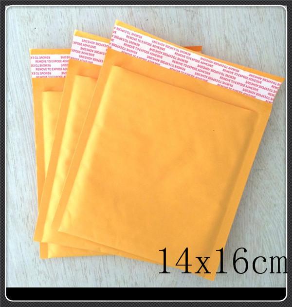 Пакет для почтовых отправлений 100pcs/lot 140MMx160MM 5.5 x6.3 Kraft Bubble Mailers 007