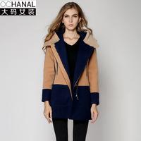 2014 Winter Europe, padded warm coat plus size women's fashion wool coat women