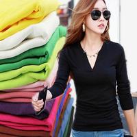 Hot selling women causal long t-shirt women blouse tops tees clothing long sleeve spring autumn tops t-shirts