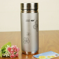 Stainless steel simple silvery grey sealing up bottle dull polish J1322
