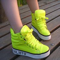 Free shipping  2014 fashion sport women shoes platform elevator casual shoes women skateboarding shoes