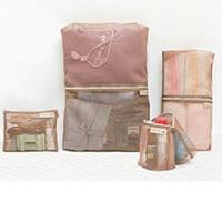 Candy color Korean travel bag bag four piece clothes Organizer Bag