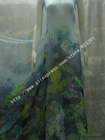 100% Pure Silk Chiffon Fabric Textile Material For Dressmaking Scarf Shawls By Meter C0848