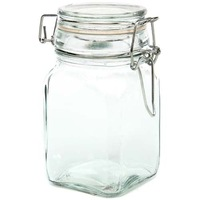 "New!BUY 2 LOTS 15% DISCOUNT!!4.5""H glass jar with locking lid  USD55.20 for 12pcs/lots/each USD4.60/PC"