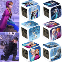 Wholesale Frozen Alarms Clocks Best Kids Gifts Princess Anna/Elsa/Olaf Printed LED Digital Frozen Clock Alarm Watches Free P&P