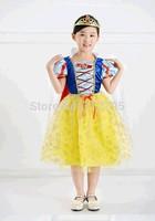 Autumn and winter little girls' Snow White Princess Dress children Halloween high-quality cotton costumes