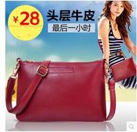100% Genuine leather Korean 2014 new fashion trend  leather covered  shoulder bag  small satchels handbags hot Messenger bag