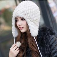 woman winter real mink fur hat  fashion warm soft cap beanie free shipping