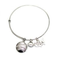 [Cheap Sales] Top Quality Alex And Ani Expandable Bracelets Merry Christmas Love USA Charms Silver