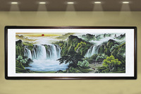 Free Shipping Calligraphy Painting Chinese Landscape Painting Ink Brush Rice Paper Adjust feng shui home decoration painting