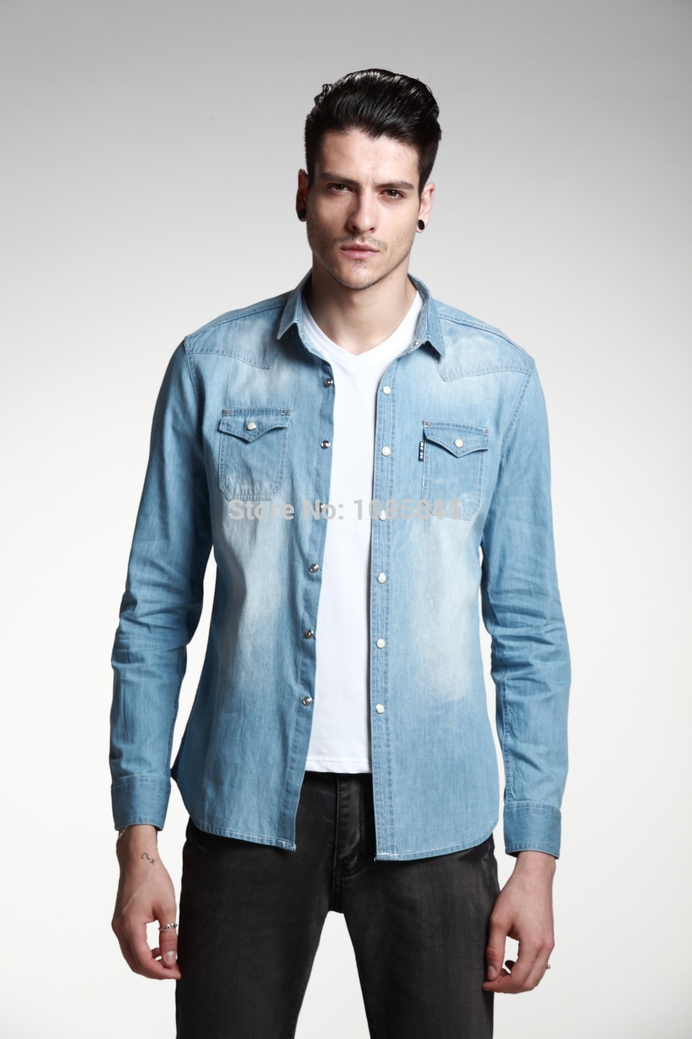 Affordable Men's Designer Clothes Big Discount Blue cotton