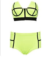 Hot Sale Sexy Push Up Swimwear Neon Color Brazilian Bathing Suit Bikini Women Beachwear Bikini 2014