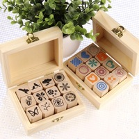 Free shopping diy wooden decorative accessories stamp albumaccessories DIY diary stamp to send a friend a gift