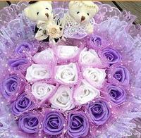 Artificial flowers wedding bouquet flower wedding flower Valentine's day gift girlfriend a birthday present