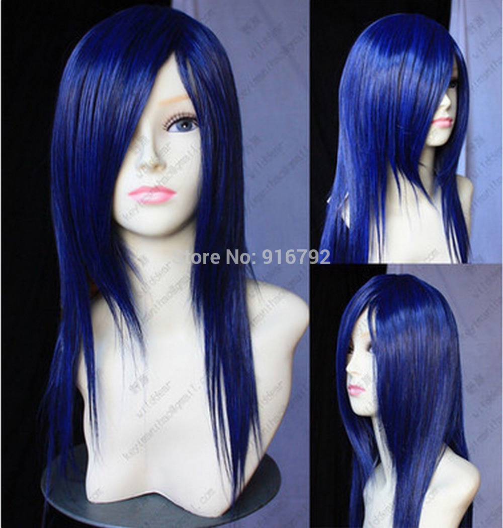 Mix Black And Blue Hair Dye Wig Black Blue Mixed Color